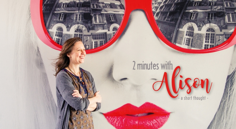 2 MINUTES WITH ALISON